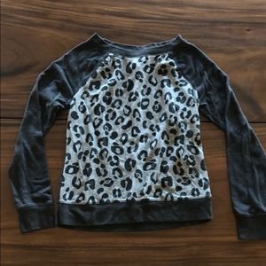 Xhilaration Sweaters - Crewneck Leopard Sweater